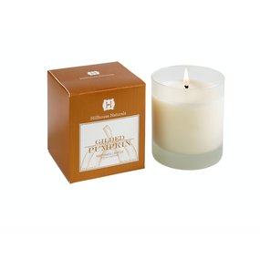 Hillhouse Naturals Gilded Pumpkin Candle In Frosted Glass 7oz. | James Anthony Collection
