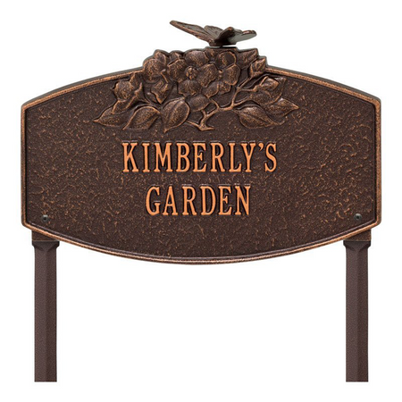 Whitehall Butterfly Blossom Garden Personalized Lawn Plaque - UPC 719455440858 - James Anthony Collection