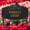 Whitehall Butterfly Blossom Garden Personalized Lawn Plaque - James Anthony Collection