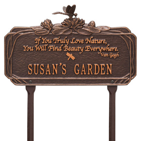 Whitehall Dragonfly Quote Personalized Garden & Lawn Plaque - James Anthony Collection