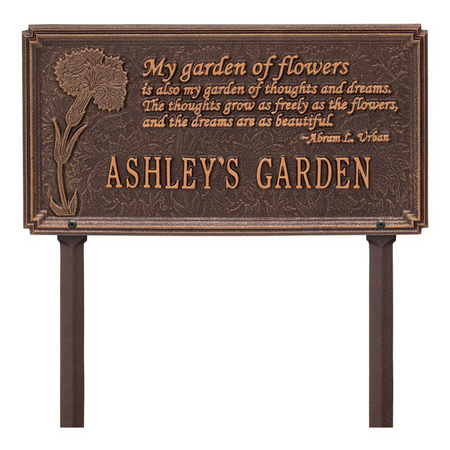 Whitehall Dianthus Quote Personalized Garden & Lawn Plaque - James Anthony Collection