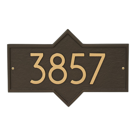 Whitehall Hampton Modern Address Plaque Aged Bronze - James Anthony Collection