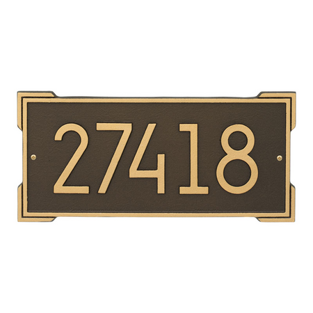 Roanoke Modern Address Plaque Aged Bronze - James Anthony Collection