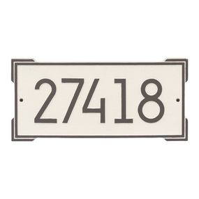 Roanoke Modern Address Plaque Coastal Clay - James Anthony Collection
