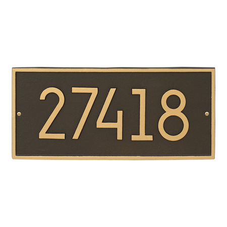 Whitehall Hartford Modern Address Plaque Aged Bronze - James Anthony Collection