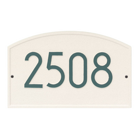 Whitehall Legacy Modern Address Plaque Coastal Green - James Anthony Collection