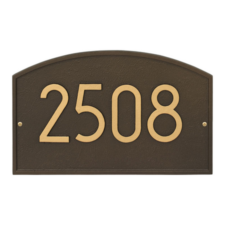 Whitehall Legacy Modern Address Plaque Aged Bronze - James Anthony Collection