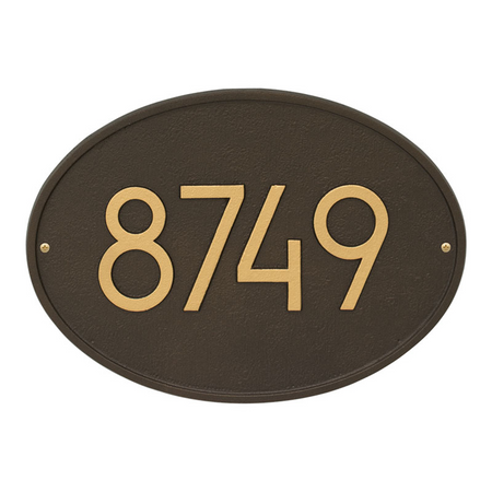 Whitehall Hawthorn Modern Address Plaque Aged Bronze - James Anthony Collection