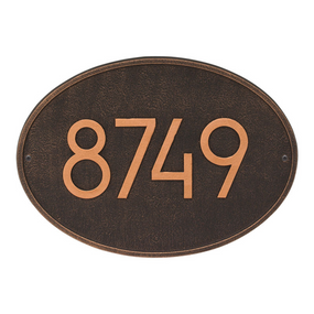 Whitehall Hawthorn Modern Address Plaque Oil Rubbed Bronze - James Anthony Collection