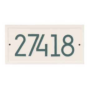 Whitehall Rectangle Modern Address Plaque Coastal Green- James Anthony Collection