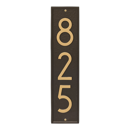 Whitehall Delaware Modern Address Plaque Aged Bronze - James Anthony Collection