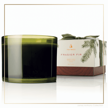 Thymes Frasier Fir 3-Wick Candle | James Anthony Collection
