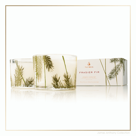 Thymes Frasier Fir Pine Needle Candle Set | James Anthony Collection