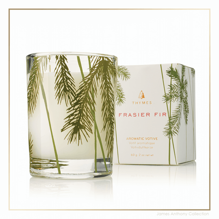 Thymes Frasier Fir Votive Candle | James Anthony Collection