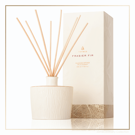 Thymes Frasier Fir Gilded Collection Ceramic Reed Diffuser - UPC 637666048116 | James Anthony Collection