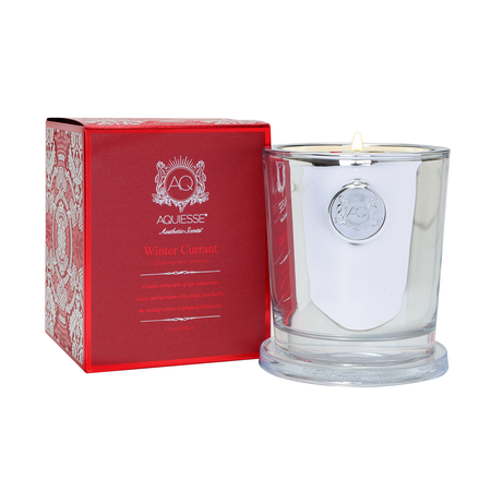 Aquiesse Winter Currant Large Holiday Candle Gift Box   James Anthony Collection