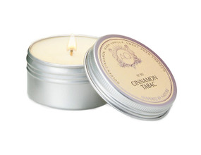 Aquiesse Cinnamon Tabac Travel Tin Candle   James Anthony Collection