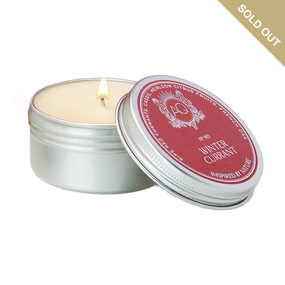 Aquiesse Winter Currant Holiday Candle Travel Tin | James Anthony Collection