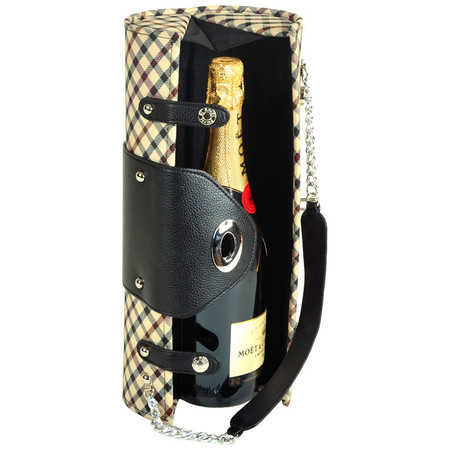 Picnic at Ascot Wine Purse in London Plaid | James Anthony Collection