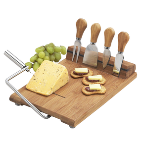 Stilton Bamboo Cheese Board Set with 4 Tools