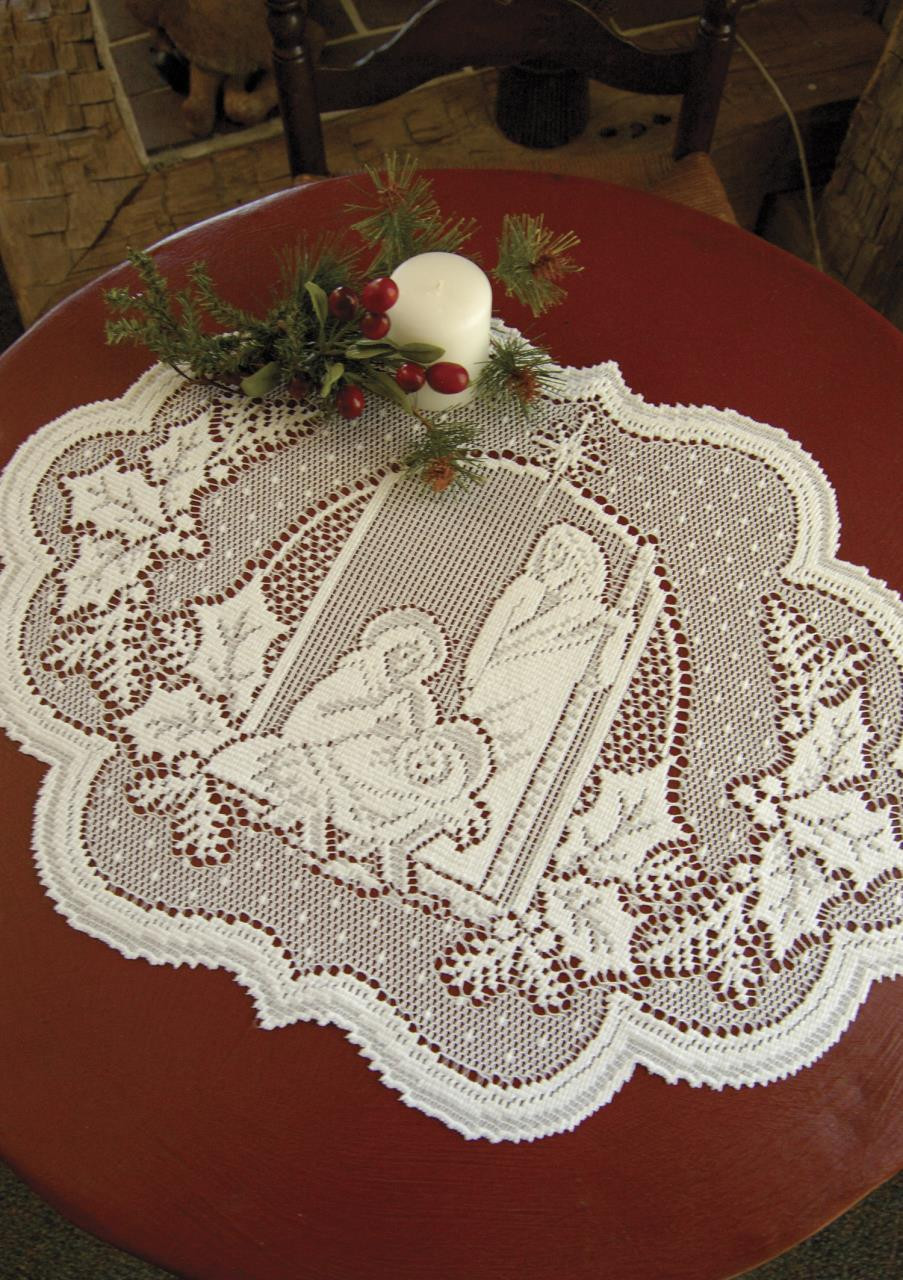Silent Night Lace Tabletop Collection -