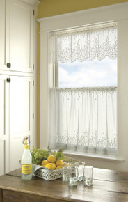 Blossom Lace Tier Curtain - 734573100019