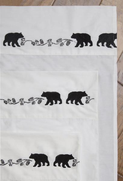Bear Embroidered Sheet Set - 035731126620