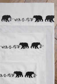 Bear Embroidered Sheet Set - 035731126620