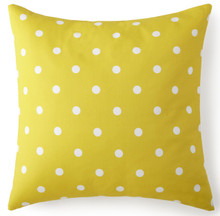Blue Falls Yellow Polka Dot Euro Sham - 626300311457