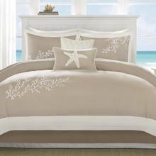 Coastline Taupe Comforter Set -