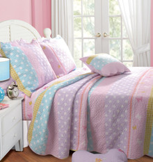 Polka Dot Stripe Quilt Collection -