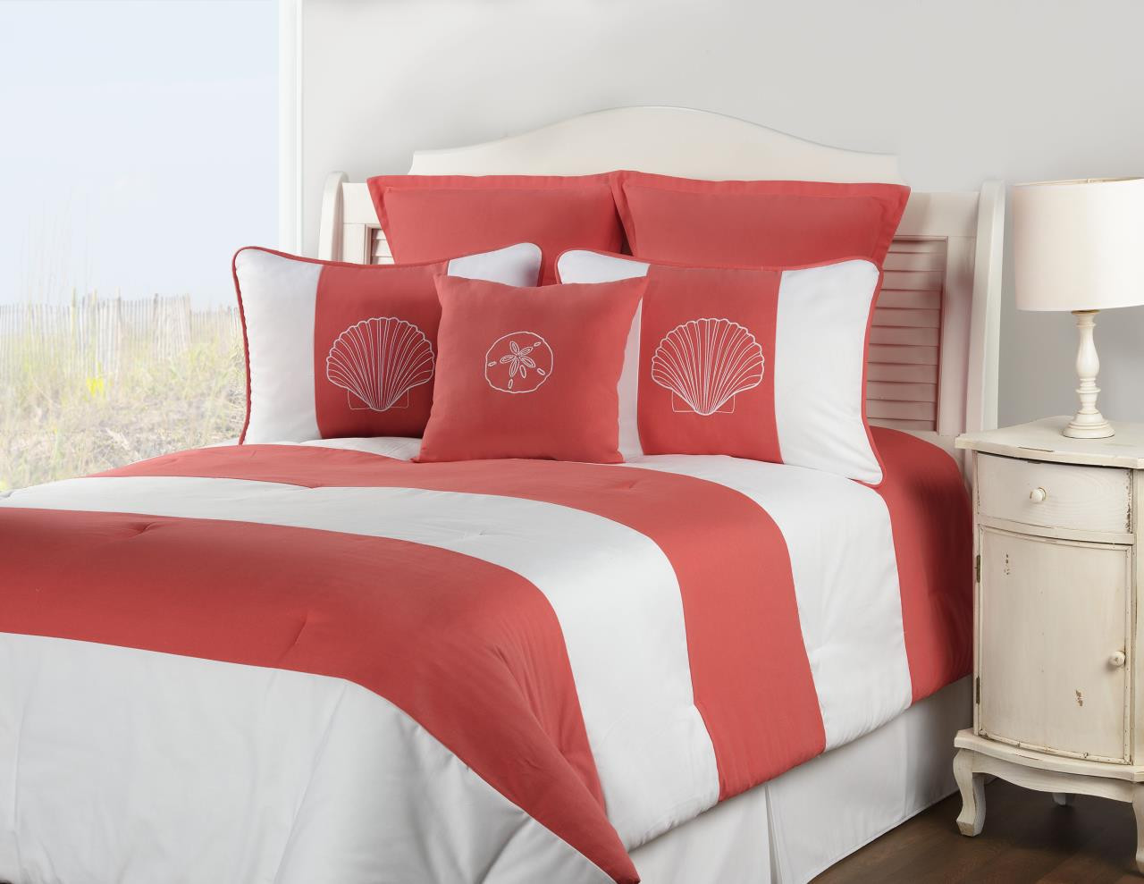 Shell Island Coral Bedding Collection -