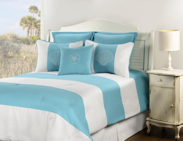 Shell Island Turquoise Bedding Collection -