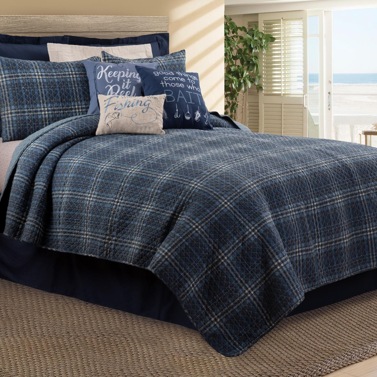 Anthony Navy Quilt Collection -