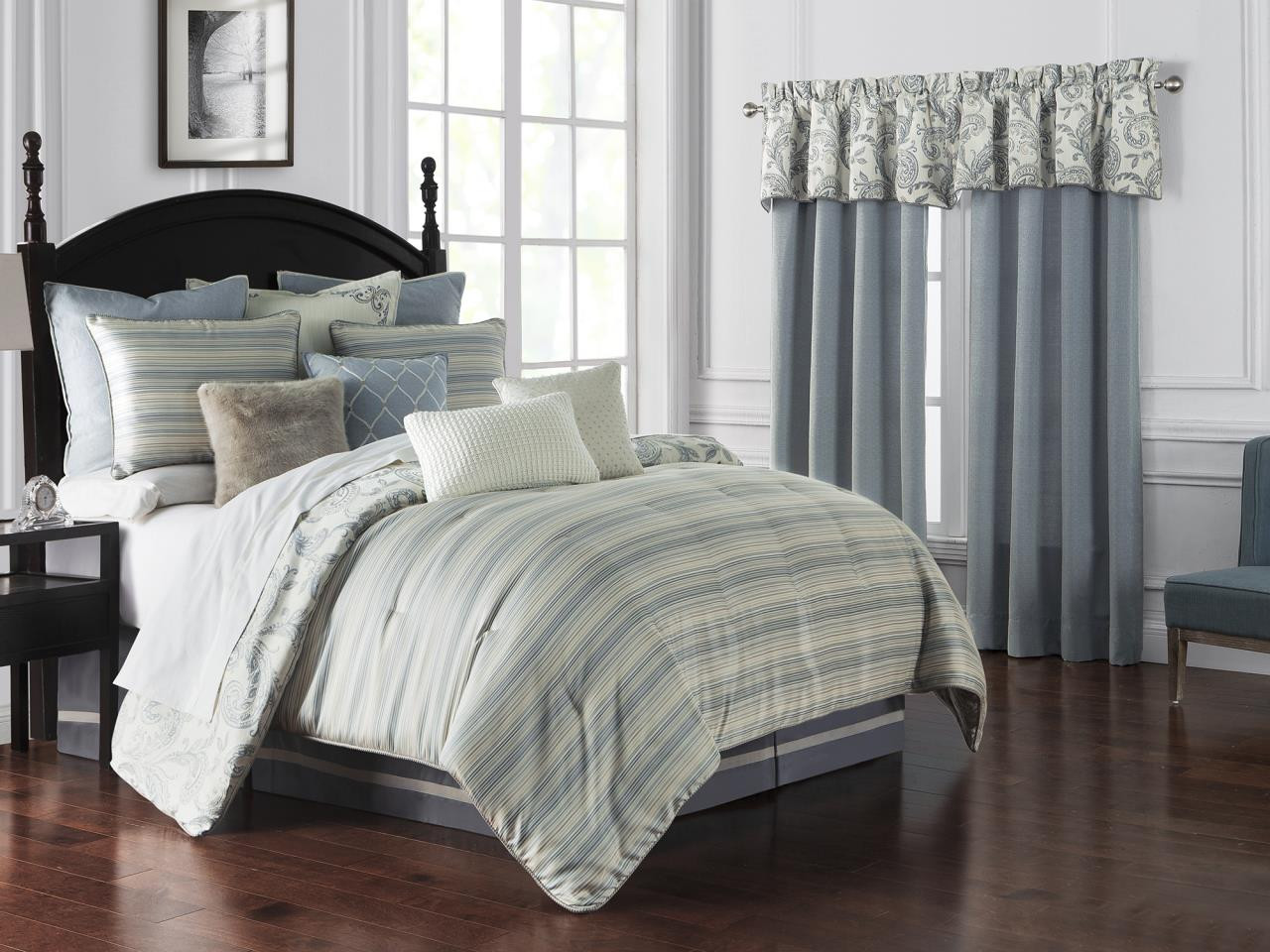 Florence Chambray Blue Bedding Collection -