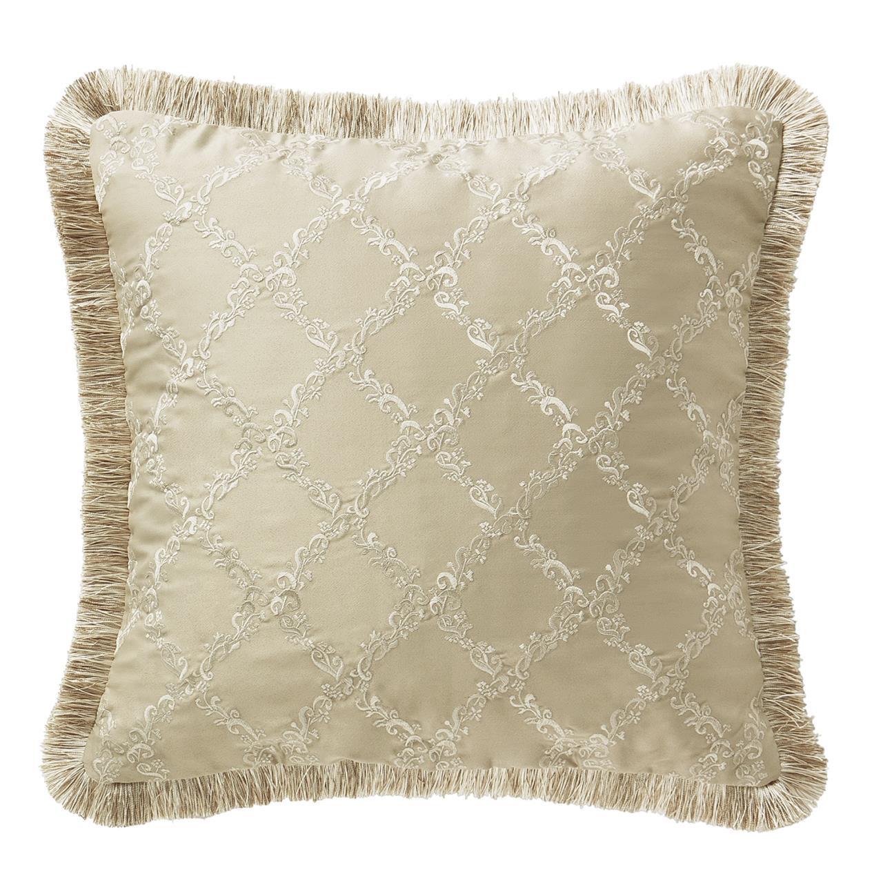 """Annalise Gold 18"""" Pillow - 038992921782"""