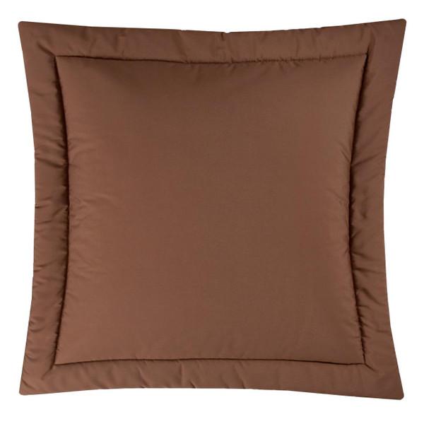 Brunswick Solid Brown Euro Sham - 013864100748