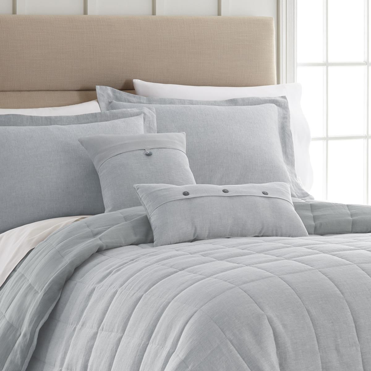 Linen Light Blue Quilt Collection -
