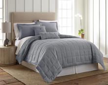 Linen True Blue Quilt Collection -