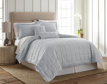 Linen Light Blue Quilt Set - 754069451241