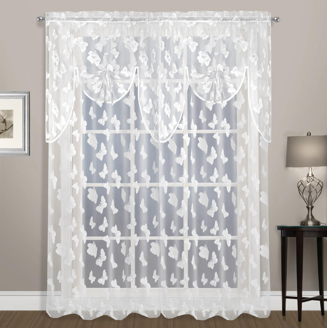 Madame Butterfly Lace Curtain - 021371038294