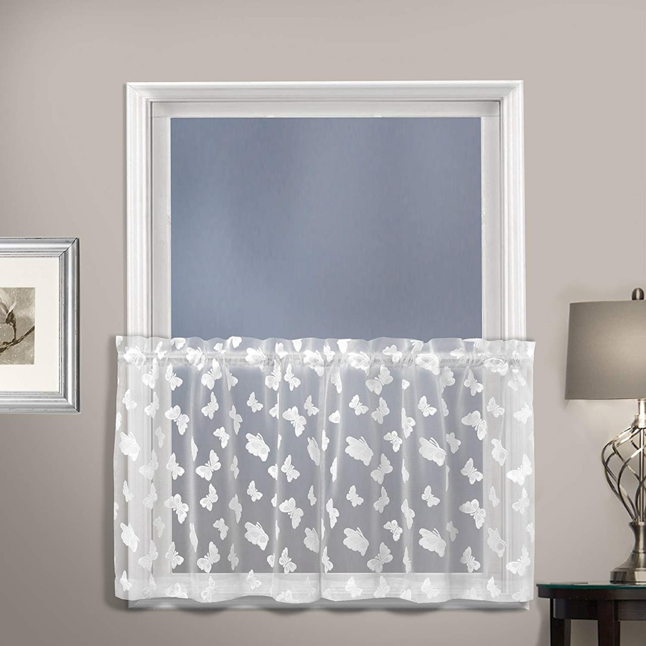 Madame Butterfly Lace Tier Curtains & Valances - 021371038249
