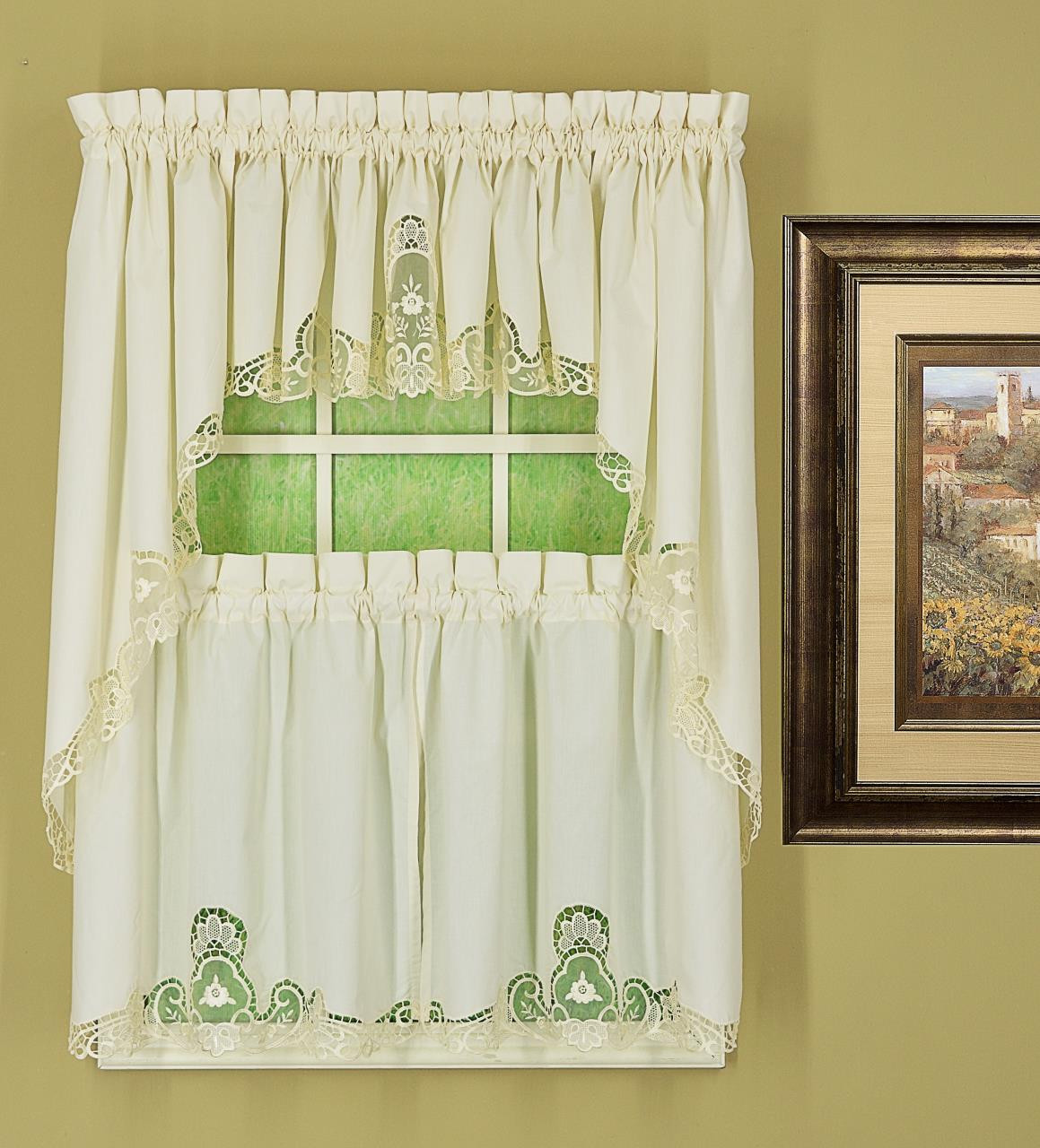 Annabelle Macrame Lace Tier Curtains - 647506022565