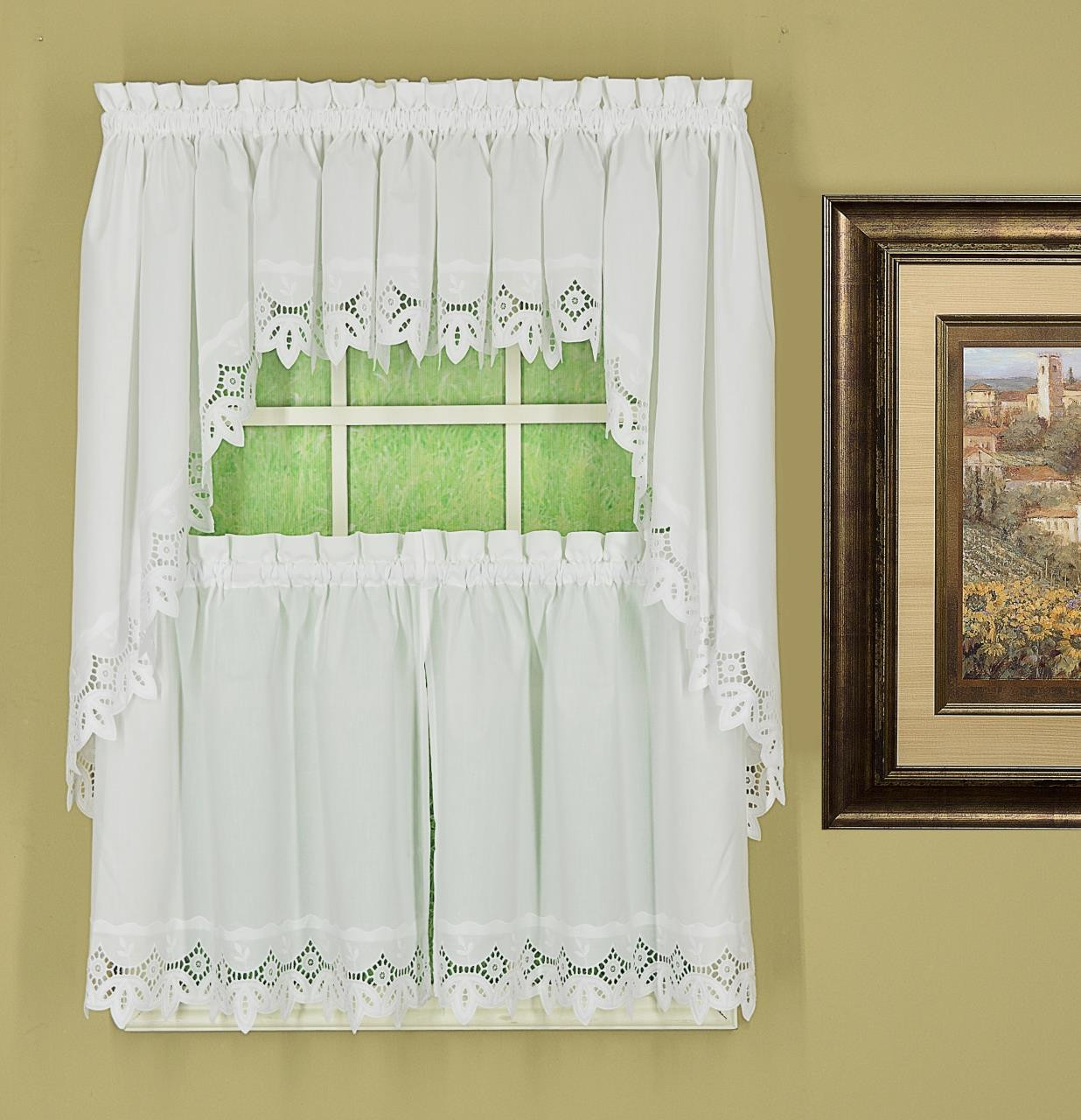 Heirloom Eyelet Lace Tier Curtains - 647506021933