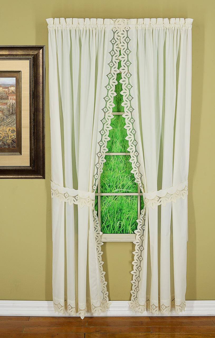 Heirloom Eyelet Lace Curtains By Hc International Paul S Home Fashions