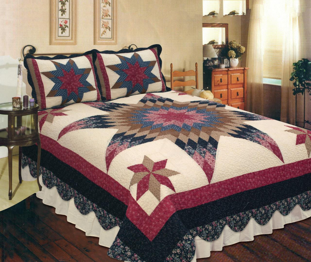 Prairie Star Quilt Collection By Elegant Decor Paul S Home Fashions