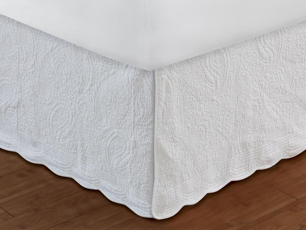 Paisley Quilted Bed Skirt -