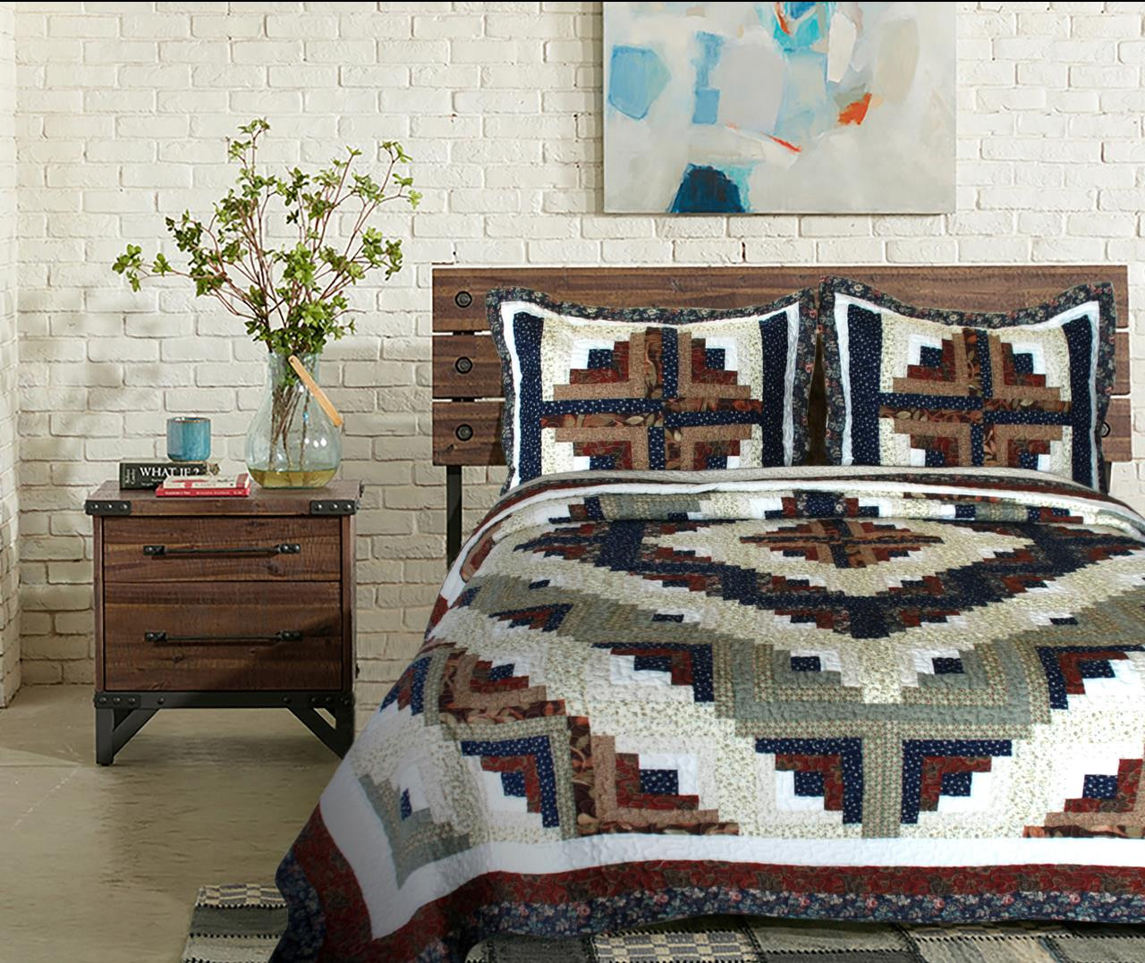 Colorado Log Cabin Quilt - 637173782565