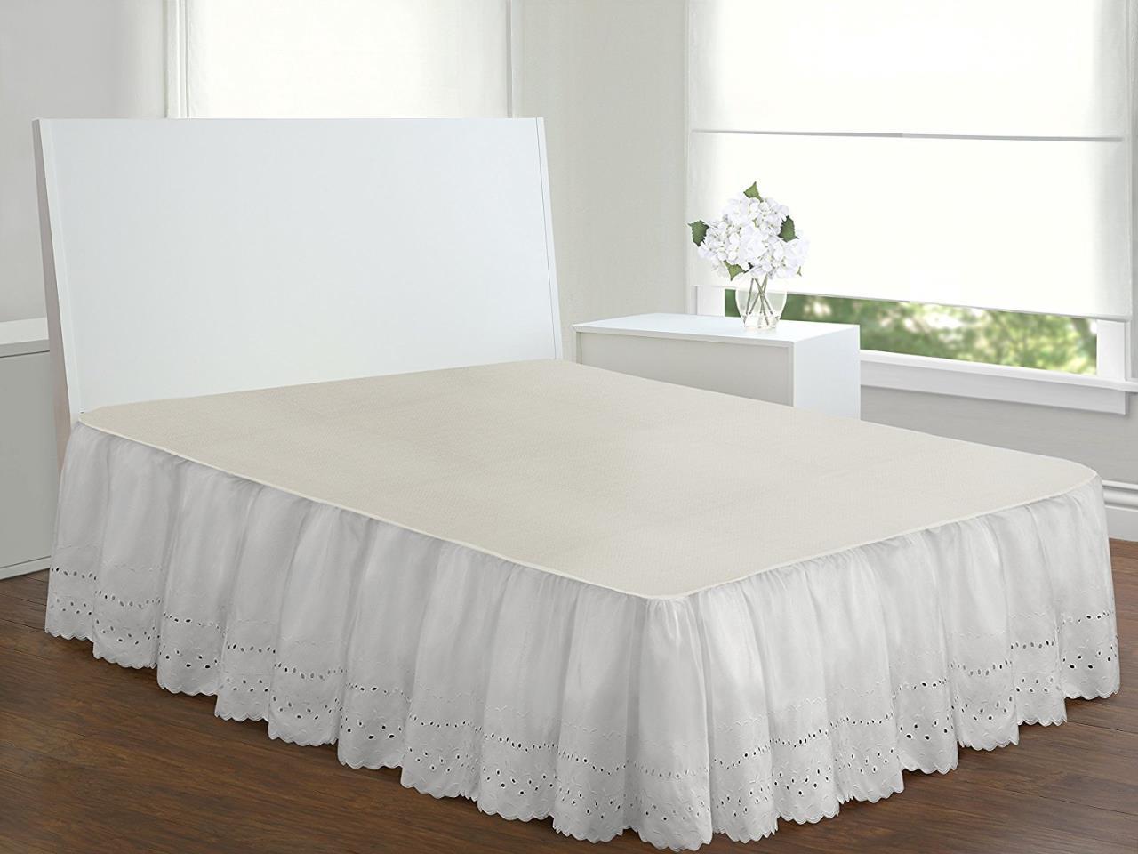 Ruffled Eyelet Bed Skirt - 010482880014