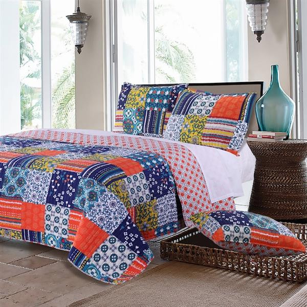 Arianna Teal Quilt Collection -